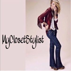 LAST 27🔥Skinny NWT Free People Skyler Flare Jeans